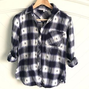 Rip Curl Flannel Plaid Shirt. Like new!!
